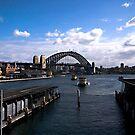 Arriving at Circular Quay Sydney by Ben Shaw