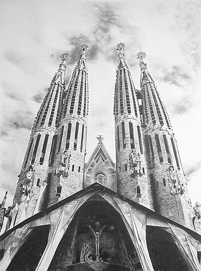 Sagrada Familia Pencil Drawing by onlypencil