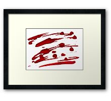Red Ink Splash Framed Print