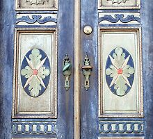Old decorative beautiful wooden door by Ron Zmiri