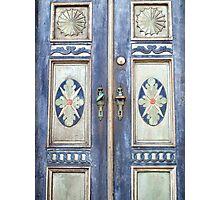 Old decorative beautiful wooden door Photographic Print