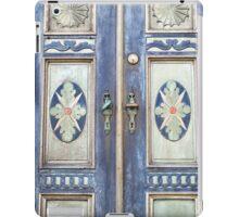 Old decorative beautiful wooden door iPad Case/Skin