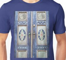 Old decorative beautiful wooden door Unisex T-Shirt