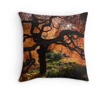 Old Acer Dissectum Bronze Throw Pillow