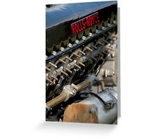 Rolls Royce Merlin Greeting Card