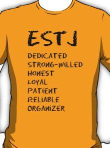 ESTJ (Black letters) T-Shirt