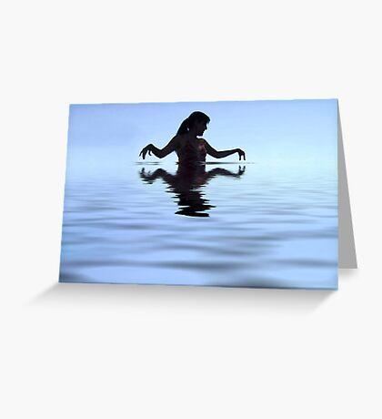 Water Woman Greeting Card