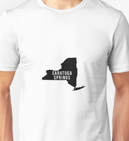 Saratoga Springs, New York State Silhouette Unisex T-Shirt