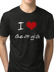 I love Heart Georgia Tri-blend T-Shirt
