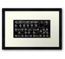 Amazing Korg Synth, black transparent design. Framed Print
