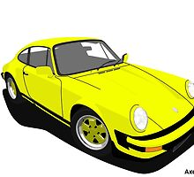 My own 911 in yellow by AxelWave