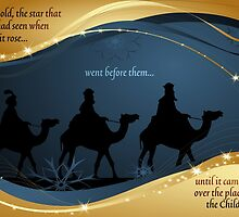 Three Kings Christmas Card - Scripture by Sol Noir Studios
