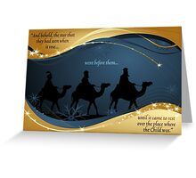 Three Kings Christmas Card - Scripture Greeting Card