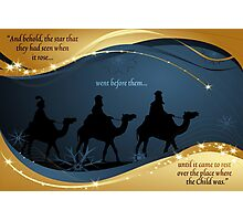 Three Kings Christmas Card - Scripture Photographic Print