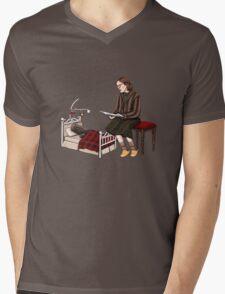 Bedtime for Log Mens V-Neck T-Shirt