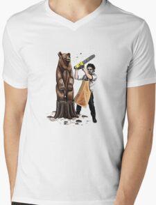 Leatherface's Secret Hobby Mens V-Neck T-Shirt