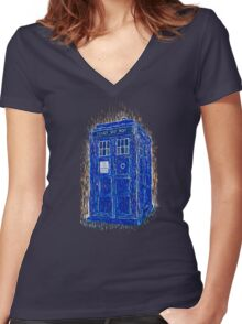 tardis by Vincent Women's Fitted V-Neck T-Shirt