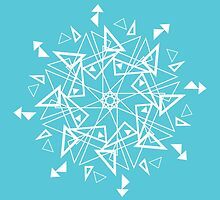 Snowflake - Triangles by Lady LoveBird