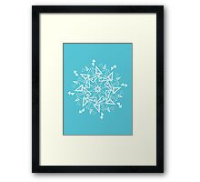Snowflake - Triangles Framed Print