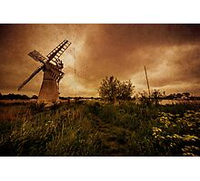 Thurne Wind Pump old master  Photographic Print