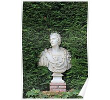 Ancient Marble bust Poster
