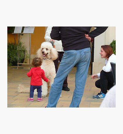 Child and Dog Photographic Print
