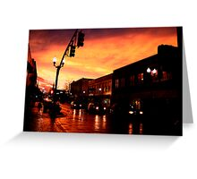 Red Sky at Dusk Greeting Card