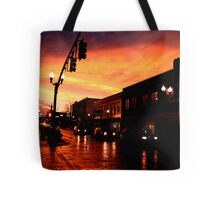 Red Sky at Dusk Tote Bag