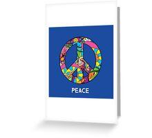 Magic mushroom pattern hippie peace symbol  Greeting Card