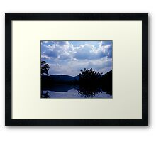 The Lakes View Framed Print
