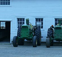 two tractors by Nina Andrews