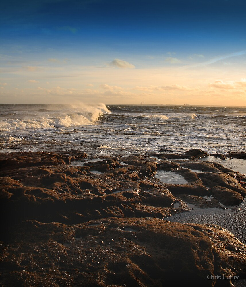 Seashore at Newbiggin by Chris Cutler