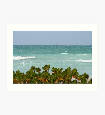 Gulf of Mexico sailing Art Print