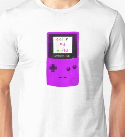 color my world purple Unisex T-Shirt