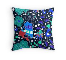 composition with cat Throw Pillow