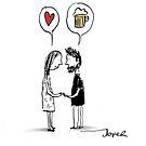 love & beer by Loui  Jover