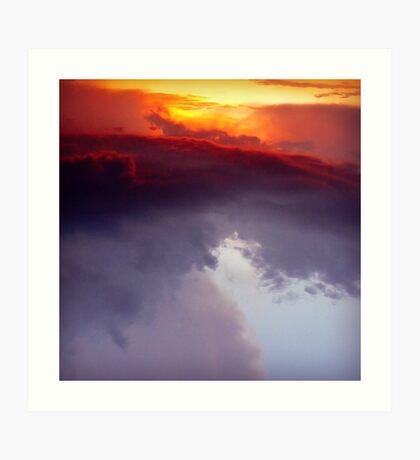 Fire.Ocean.Sky Art Print