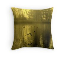 Golden Mist Throw Pillow