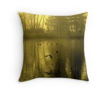 Golden Mist Throw Pillow