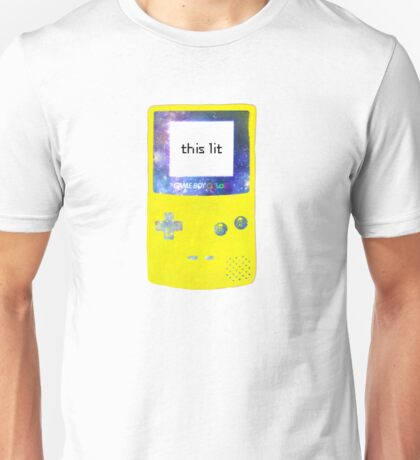 this game boy is lit yellow Unisex T-Shirt