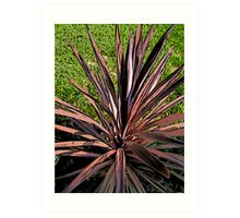 Comic Abstract Spike Plant Art Print