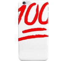 100 [Red] iPhone Case/Skin