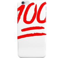 100 [Red] iPhone Case/Skin