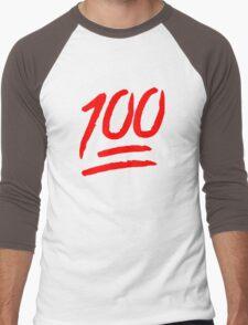 100 [Red] Men's Baseball ¾ T-Shirt