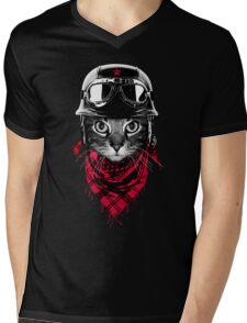 Adventurer Cat Mens V-Neck T-Shirt