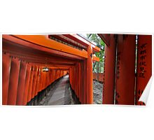 Buddhist gates at Fushimi-Inari Poster