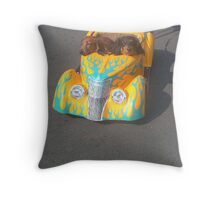 Dashund Driving Throw Pillow