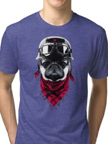 Adventurer Pug Tri-blend T-Shirt