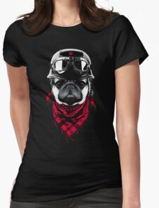 Adventurer Pug Womens Fitted T-Shirt