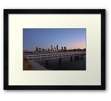 Perth At Dawn Framed Print